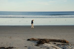 Walk on the beach in New Hampshire