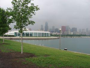 Chicago skyline Shedd Aquarium
